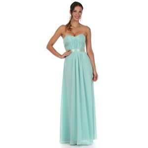 My Fashion pleated gown size L Grayed Jade